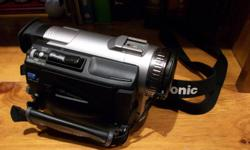 Panasonic Digital Palmcorder Camcorder in like new condition. Includes 2 Lithium ion batteries and charger. 20:1 zoom lens and 3 inch Liquid Crystal  Display. 300 x Digital 20 x Zoom. Takes mini DV cassettes included. Must sell and looking for offers. New