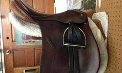 Excellent condition, older Passier dressage saddle, 17.5 with fittings. Reluctant to part with it, but can no longer ride. This is a top quality saddle made in Germany, of real pigskin (now made of calfskin) A great saddle you will never want to part