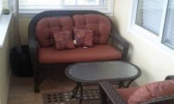 Rattan Solarium, Deck Love Seat, 2 Chairs and Table... Asking $400..obo .bought last summer from Home Depot for $799 Plus Tax. . Set is n great condition... Phone 778-858-3443 Will trade for Yellowsided or Pinneaple Conure Baby with Cage, Epad with HDMI