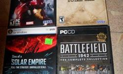Fun PC Games for sale. Most rated T or M. Asking $10 each. Msg me if interested.