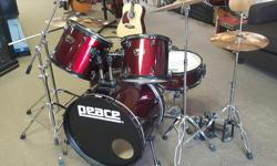 Duncan Music Came in on consignment. A great sounding complete drum set. You get everything you need to play. Stop by the store and check it out. Duncan Music 488 Trans Canada Hwy Duncan BC V9L 3R6 250-748-7625
