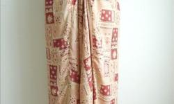 """Skirt - patchwork pattern, peach / terracotta color - w/ tie waist - size S/M, waist 25-33"""", length 37"""" - like new, in excellent condition - $10 firm"""