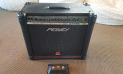 "Peavey Bandit with transtube technology to simulate a tube amp sound. Solid, loud, great sounding amp. Includes foot switch for external loop and internal overdrive/distortion. Speaker is 1x12"" Sheffield. This amp is in great shape. Great for rock, metal,"