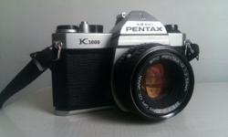 Pentax k1000 with 50mm f2