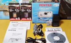 EXCELLENT CONDITION ~ Pentax Optio WPi 6MP Waterproof Digital Camera ~ BIG BUNDLE In 100% perfect working condition. Some minor signs of previous use (small marks/scuffs here and there). Comes in original box with all original accessories (manuals,