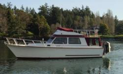 NEW asking price. Very comfortable, robust, well built fiberglass west coast cruiser. Power buy a rebuilt Volvo turbo diesel. 200 hrs on engine. Hot and cold pressure water. Diesel stove for cooking and heat. 2 way Nova cool fridge. Fully enclosed W/C