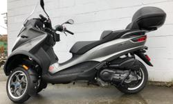 Make Piaggio Model Mp3 Year 2018 kms 116 Tuff City Powersports Ltd. Item# 151 Terminal Ave Nanaimo, BC V9R 5C6 (250) 591-0415 9am - 5pm Tuesday -Friday 10am - 5pm Saturday Did you know that we buy bikes? We are always looking for clean used motorcycles