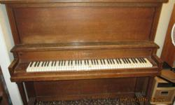 Free piano. Made by Sherlock & Manning. Missing some ivory but otherwise seems in good condition. Likely needs tuning. Made in London, Ontario, Sherlock & Manning pianos are of mid quality. Call Mike if you can make use of it. Please give it a happy home.