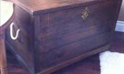 Make an offer it's got to go. Have no need for it anymore and it's taking up space. Beautiful old pine chest with lots of storage Inside. Could be used at the foot of the bed to store linens, use it as a coffee table etc.... Lots of possibilities:) We