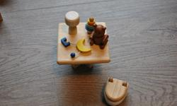Toilet, lamp, toy, bear, mobile etc. In excellent shape $5. See my other ads for other items.