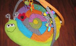 2 playmats for baby Green worm mat makes noises when baby kicks legs  - $12.00 Tummy time mat perfect for babies needing extra tummy time - $5.00