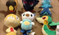 Assorted Pokemon plush characters. In excellent condition. From a smoke free and pet free home