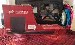 I recently upgraded my sound bar and subwoofer to Sonos as so I am selling this gently used Polk Audio MagniFi One sound bar. It comes with the original box and all equipment. It even comes with the optical cable to hook it up to your TV. This is a great
