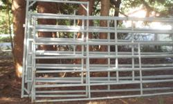3 panels 12'x6' and one 12'x6' with gate. They are 2W panels heavy duty. 12'x4' pipe gate. Please phone 250 510-3780 if interested.