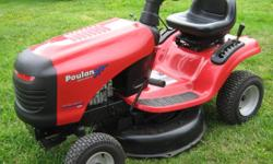 2010 Poulan XT tractor lawnmower Gear drive 12.5 hp - 30 in. 344 cc Very good condition