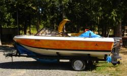 16Ft Fiber glass, 4seats, with 1990 Yamaha  55HP engine, b.n. battery, 2 gas tanks, fish finder, 7 life jackets, and many more, comes with the trailer. Moving. must sell.