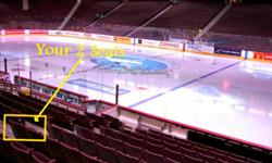 Grab this Pair ($160) and have a great night out. At $80 each seat. . .you can't lose ! Take your kid, this will be the one time you won't cringe at the price. Lower bowl, Sect 116, by the Blue line. Why not snap this pair up. Call 604-597-1241 Hard
