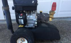 2500 PSI Pressure Washer. Runs perfect. Good pressure. Comes with hose and wand.