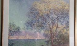 """38w x 32"""" h. Very tranquil with soft colours. Artist, Marllot Very peaceful and easy to look at."""