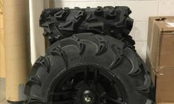 """SET OF 4 27"""" X 9"""" X R14 27"""" X 11"""" X R14 TREAD DEPTH 38mm 8 PLY MSRP $1799 662 ANDERTON ROAD COMOX, BC Price does not include applicable taxes."""