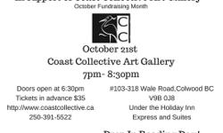 Come join us at the Coast Collective Art Gallery October Fundraising event of an -Evening With Angela! ANGELA- Psychic Intuitive Medium Come and explore the Intuitive Arts with Angela for an evening of insight, wonder and messages from Spirit for this