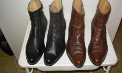 """PAID OVER $300 A PAIR FOR THESE GREAT LOOKING WESTERN BOOTS - THEY HAVE A GREAT SHINE AND VERY COMFORTABLE. THEY ARE A SIZE #12 AND TRIPLE """"E"""" WIDTH WITH A SIDE ZIPPER FOR EASY SLIP ON AND OFF. PAID OVER $300 FOR EACH PAIR SEVERAL YEARS AGO AND HAVE ONLY"""