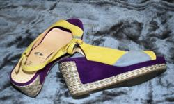 Portia brand. Size 8, but fit more like an 8.5. Too big for me. Gently worn. Paid $80.