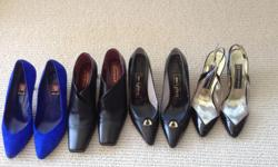 Beautiful shoes, size 8. For special occasions, the office or casual wear. Some new or worn once. From Italy or Spain. Paid $100 to $300 per pair. Sell for $10, $20 and $30 per pair