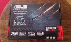 Son bought this video card about 2 months ago but he just upgraded to a beefier card to play newer games. www.asus.com/ca-en/Graphics-Cards/R72402GD3L/ Goes for $100 new so asking $60 OBO