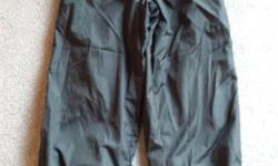 Girl's Black Athletics Works Rain Pants Size 6X only worn once excellent condition