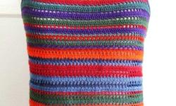 "Rainbow Color Crochet Tank Top / Sleeveless / Cami - size S/M, bust: 32-36"", length: 22"" - brand new - $30 firm"