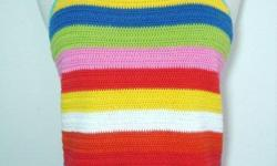 """Rainbow Color Knitted Tank Top / Sleeveless / Cami - size small, bust: 30"""" - 34"""", length: 22"""" - wore once, like new, in excellent condition - $15 firm"""