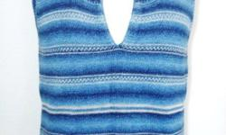 """Ralph Lauren - Knit Tank Top / Sleeveless / Cami - 100% cotton, blue color - size M, bust: 35-40"""", length: 23"""" - like new, in excellent condition - $35 firm"""