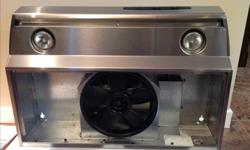 """Allure by NuTone under counter range hood. 30"""" stainless steel with two pot lights. Like new."""