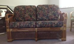We have a Rattan Loveseat for sale. -Excellent condition -Barely used Please text or call if interested Thank you