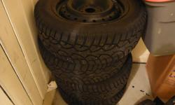 4 BOLT PATTERN --- OFF OF HONDA 2003 SI CIVIC --- APPROX 2500 KMS ON TIRES ---. 195 / 60 R 15 ..... TEXTING IS BEST FOR NOW