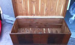 Real cedar hope chest for sale! Inside is in great condition but parts of the exterior are in need of some repair. -see photos 519 999-4275
