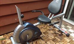 PT Fitness Smag 315R Recumbent Bike, magnetic resistance, adjustable seat. Needs digital display.