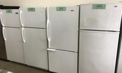 We have several makes and models of refurbished fridges for sale. Prices start at $289.00 and up. Photos displayed may not represent what we currently have in stock as we have a constant turnover of all appliances. All units have been checked, repaired,