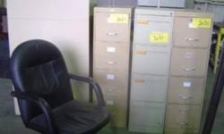 ReSALE CHAIRS   · Desk chairs · Reception chairs · Executive desk chairs  · Sled Base chairs  · Stacking chairs   Chairs are $25.00 and up.   We have many chairs to choose from!! Come in to check out our complete line of office inventory.   For more