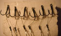 I have lot of experienced with salmon fishing for many years. I've come up with a strong dependable bait rig set up for herring anchovy and other bait fish or hootchy. Made with VMC, Mustard ultra point or Owen hooks. #1 or # 2 triple hook and a #4/0 or