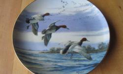 """from the collection """"Ducks Taking Flight"""" edition limited to 14 firing days. the Danbury Mint. $15 each or $100 for 9 plates"""