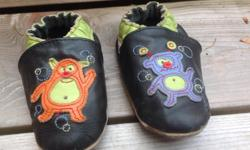 Super cute Robeez monster shoes in EUC. 12-18 months.