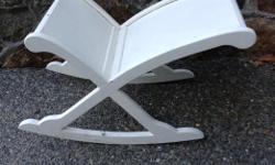 Unique Vintage wooden rocking foot stool. . $15