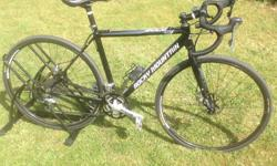 I would like to sell my Rocky Cross bike. It is in excellent, almost new condition with just over 500km total. I will include a set of new MEC 1/2 flat, 1/2 SPD pedals (Not shown on bike) , a set of lightly ridden Vittoria Adventure tires, a set of Maxxis