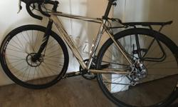Rocky Mountain Solo just completely tunes with new brakes and cables and gear cables plus full tuned. Includes two side bags for commuters. Also water proof covers for if it is really wet out. Ready to go. 18 speed. Bike has egg beaters pedals, You'll