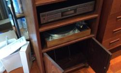 beautiful rosewood stereo cabinet, excellent condition, 36 inches high, 21 inches wide, 17 inches deep