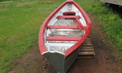 14 foot Rowing dory comes with oars, nice little boat hard to find a real dory, asking $300.00 call 902 583 2440