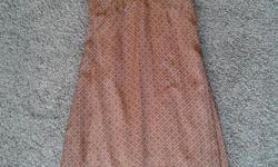 RW&CO dress, brown/orange colour. Size 0. 100% polyester.