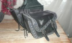 Motercycle saddle bags in fair condition. $30.00